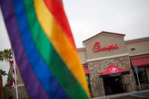 One Who Was There, Explains Chick Fil-A to Homosexual Protestor