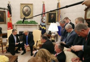 Pastor Brunson, Freed From Turkey, Prays For Trump in the Oval Office